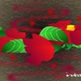真紅の落ち椿