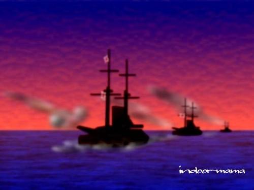 連合艦隊・黄海の勇姿