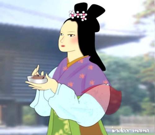 光明皇后と心太(トコロテン)