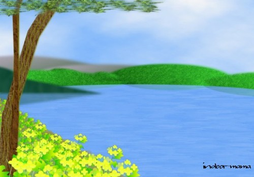 余呉湖の春