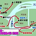 大坂冬の陣~博労淵・野田福島の戦いの関係図