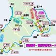 函館戦争・幕府軍進攻ルート