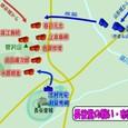 長谷堂の戦い・布陣図