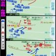 石垣原の合戦・布陣図