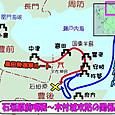 石垣原前哨戦~杵築(木付)城攻防の関係図