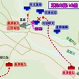 耳川の戦い初日・高城川の戦いの図