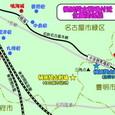 桶狭間古戦場・位置関係図