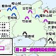関ヶ原~因幡周辺の位置関係図