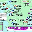 九州の関ヶ原~宮崎城攻め関係図