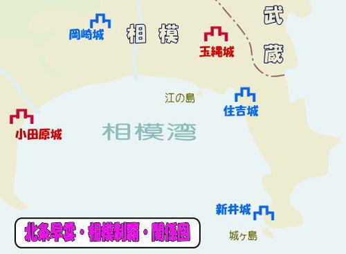 北条早雲の相模制覇・関係図