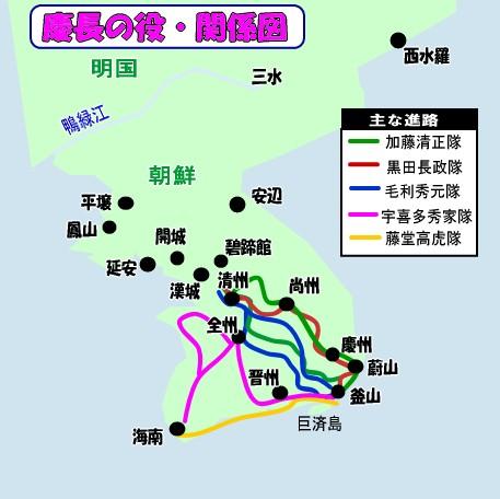 慶長の役・関係図