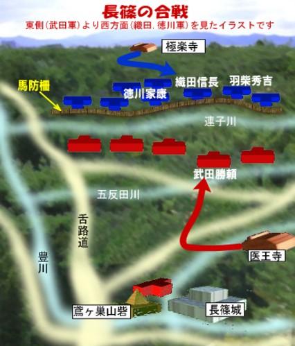 長篠の合戦の図