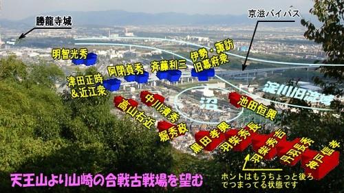 山崎の合戦・布陣図