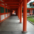 神楽殿への通路