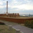 三十石船(復元)と淀川