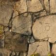 大阪城・空堀北壁の細川&毛利刻印石