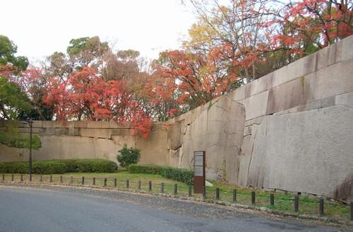 大阪城~秋色の肥後石