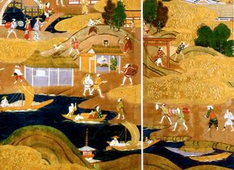 屏風に描かれた御茶屋御殿跡